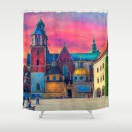 Cracow Wawel art Shower Curtain