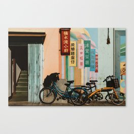Bicycle Shadows Canvas Print