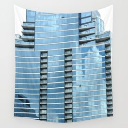 BLUE CHICAGO - CLEANING WINDOWS Wall Tapestry