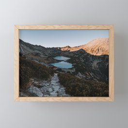 Mountain Ponds - Landscape and Nature Photography Framed Mini Art Print