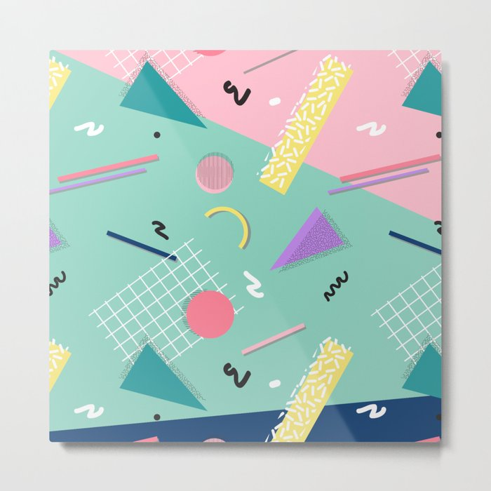 Dreaming 80s Pattern #society6 #decor #buyart Metal Print