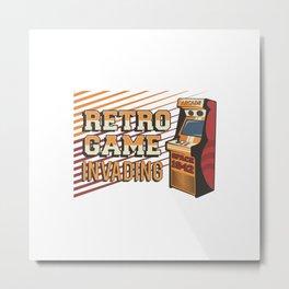 Retro Arcade Video Game Machine Signage Poster Metal Print