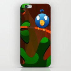 little blue birdie iPhone & iPod Skin