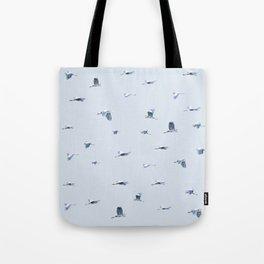 Blue Blue Heron Tote Bag