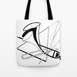Trombone Doodle Tote Bag
