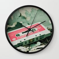 old school Wall Clocks featuring Old School  by Riot Jane