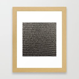 Chainmail Framed Art Print