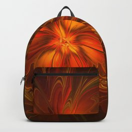 Burning, Abstract Fractal Art With Warmth Backpack