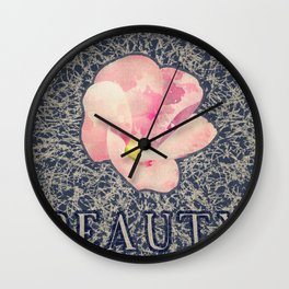 Beauty (Pink) Wall Clock