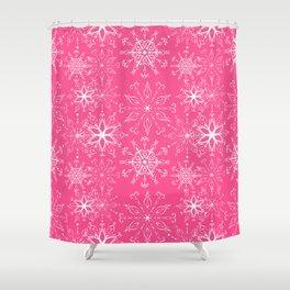Dainties Bold Pink Shower Curtain