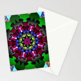 Floral doodle mandala Stationery Cards