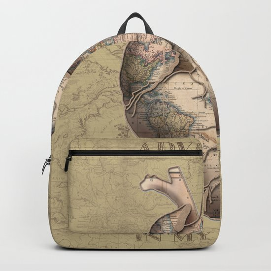 adventure heart-world map 3 Backpack