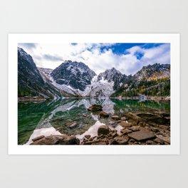 Colchuck Lake Mountain Hiking Adventure Art Print