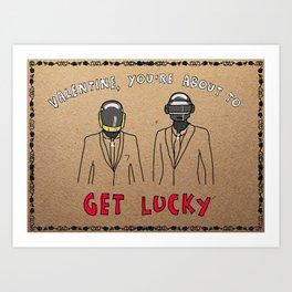 Daft Punk - Gangstergrams Art Print