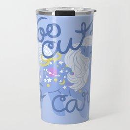 too cute to care Travel Mug