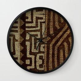 Bakuba Wall Clock