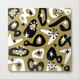 Retro Mid Century Modern Spaced Out Composition 335 Metal Print
