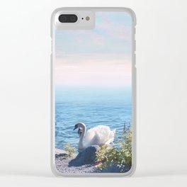 Pastel vibes 37 - Los Cisnes Clear iPhone Case