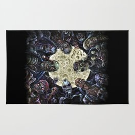 Zombies attack (zombie circle horde) Rug