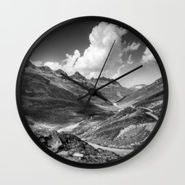 A day in the Alps Wall Clock