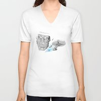 low poly V-neck T-shirts featuring LLAP- Low Poly by John Harman