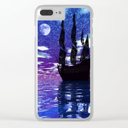 Moon Voyager Clear iPhone Case