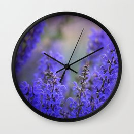 waiting for lavender blossoms Wall Clock