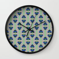 art deco Wall Clocks featuring Art Deco by MartaBerk