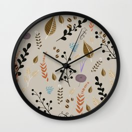floral dreams 4 Wall Clock