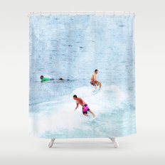 Surfing Time Shower Curtain