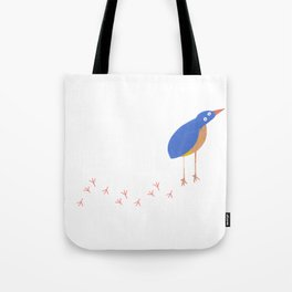 Bird leaving a trail Tote Bag