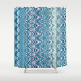 Indian pattern in blue Shower Curtain