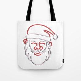 Santa Claus Neon Sign Tote Bag