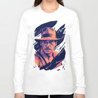 indiana jones Long Sleeve T-shirts featuring indiana jones// bad actors v2 by mergedvisible