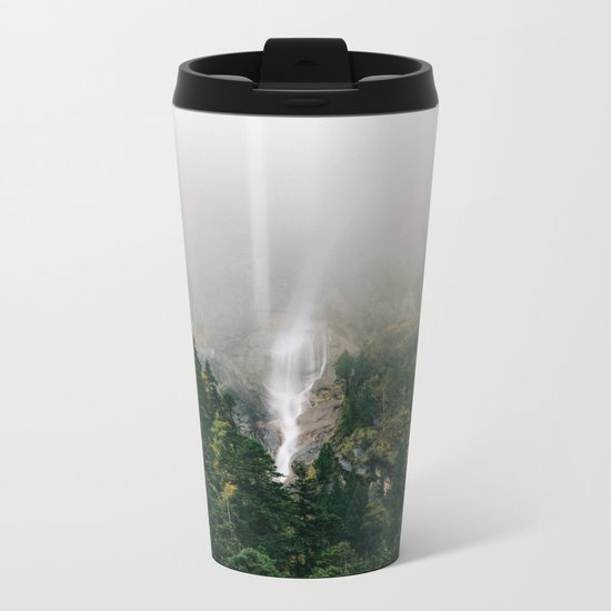 Misty Mountain Morning Metal Travel Mug