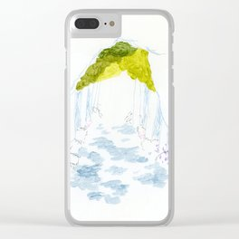 Tree-shaded Walkway Clear iPhone Case