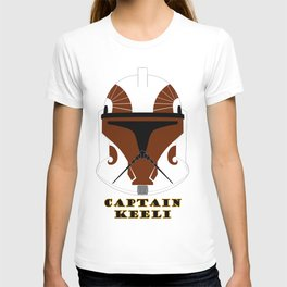 Helmet clone trooper Captain Keeli T-shirt