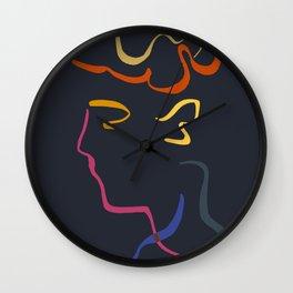 Rhett Modernist Portrait B Wall Clock