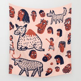 Desert People Wall Tapestry