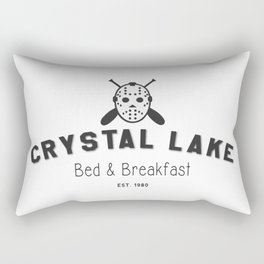 Crystal Lake Bed and Breakfast, Former Camp Crystal, Est.1980, Design for Wall Art, Posters, Tshirts, Men, Women, Kids Rectangular Pillow