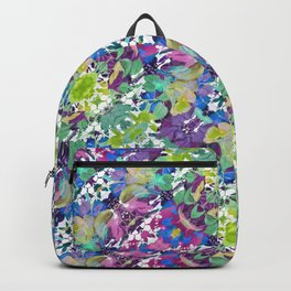 Colorful Modern Floral Print Backpack