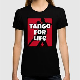 Tango for Life Black, White and Red T-shirt