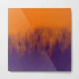Pine Tree Fantasy Forest Landscape V.3 Metal Print