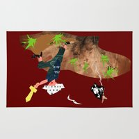 pirate Area & Throw Rugs featuring Pirate by Design4u Studio