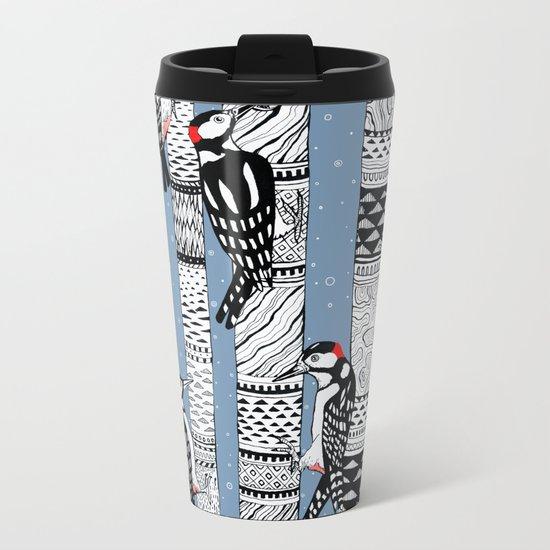 Woodpeckers Metal Travel Mug