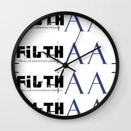 bracketed +inglis Wall Clock