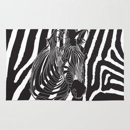 Zebra - Optical Art 5 Rug