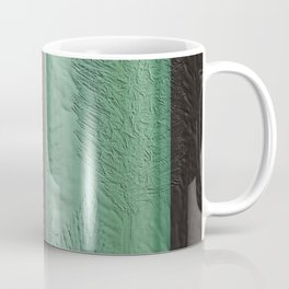 Green Leaf Overlay Coffee Mug