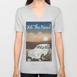 Hit the Road Unisex V-Neck