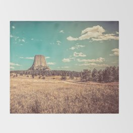 Devil's Tower National Monument Wyoming Throw Blanket